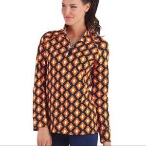 Mudpie Pullover Half-Zip Top Sweatshirt